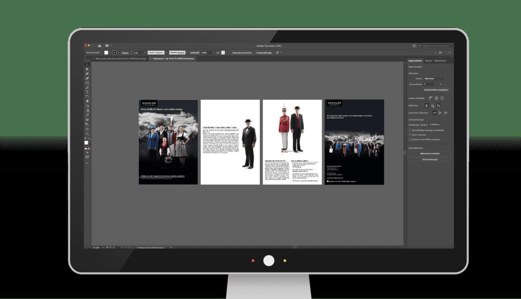 Gestaltung, Printmedien, Flyer, Prospekte, Broschüren, Visitenkarten, Kataloge